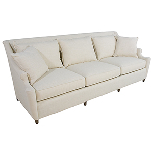 Theo Walnut 8-Foot 3 Over 3 Sofa
