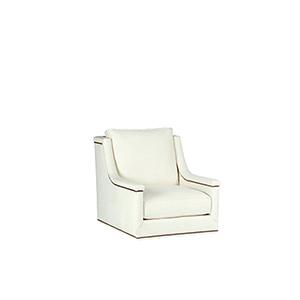 Liam Cream Capped Arm Swivel Chair