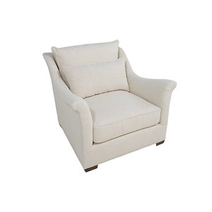 Westley Cream Chair with Shallow Seat