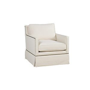 Nora Cream Swivel Rocker