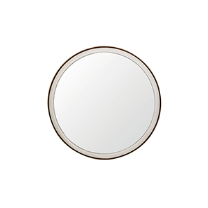 Fritz White Seagrass and Antique Brass 36-Inch Mirror