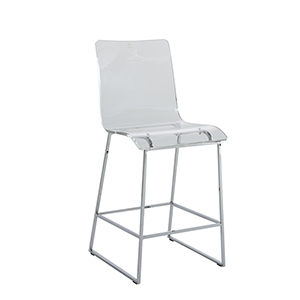 King Chrome and Acrylic 20-Inch Barstool