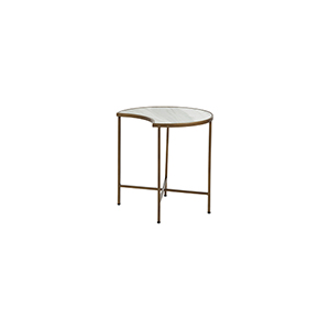 Sibyl Brushed Brass and Feather Green Marble 20-Inch Coffee Table