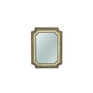 Yardley Antique Gold and White  35-Inch Mirror