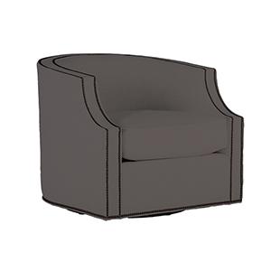 Willow Savvy Caviar Swivel Chair