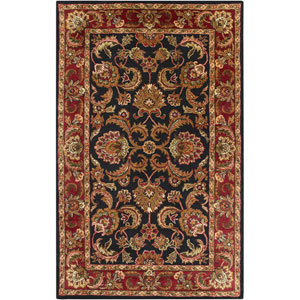 Ancient Treasures Black and Red Rectangular: 5 Ft. x 8 Ft. Rug