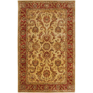 Ancient Treasures Gold and Red Rectangular: 5 Ft. x 8 Ft. Rug