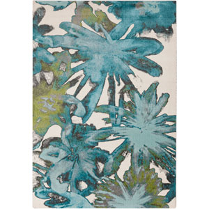 Aberdine Teal and Lime Rectangular: 7 Ft 6 In x 10 Ft 6 In Rug