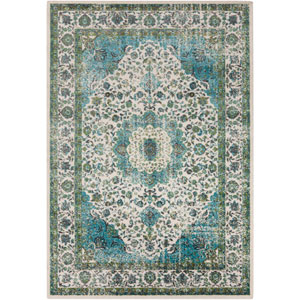 Aberdine Teal and Charcoal Rectangular: 7 Ft 6 In x 10 Ft 6 In Rug