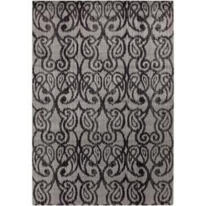 Aberdine Gray and Light Gray Rectangular: 5 Ft 2 In x 7 Ft 6 In Rug