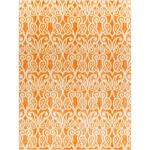 Aberdine Orange Rectangle: 7 Ft. 6 In. x 10 Ft. 6 In. Rug