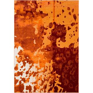 Aberdine Orange Rectangle: 5 Ft. 2 In. x 7 Ft. 6 In. Rug