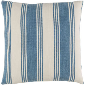 Anchor Bay Blue and Neutral 22-Inch Pillow Cover