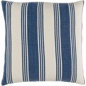 Anchor Bay Blue and Neutral 18-Inch Pillow Cover