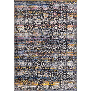 Alchemy Black Rectangle: 3 Ft. 11 In. x 5 Ft. 7 In. Rug