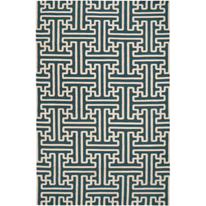 Archive Turquoise Rectangular: 5 ft. x 8 ft. Rug