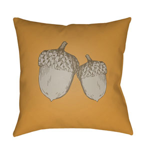 Orange Acorn 18-Inch Throw Pillow with Poly Fill