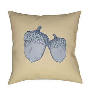 Yellow Acorn 18-Inch Throw Pillow with Poly Fill