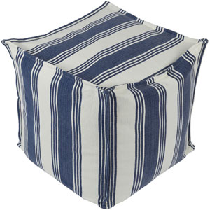Anchor Bay Cream and Dark Blue Pouf