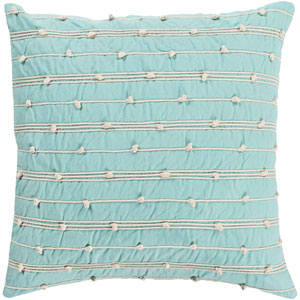 Accretion Mint and Cream 22 x 22 In. Throw Pillow