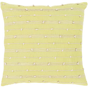 Accretion Lime and Cream 18 x 18 In. Throw Pillow Cover