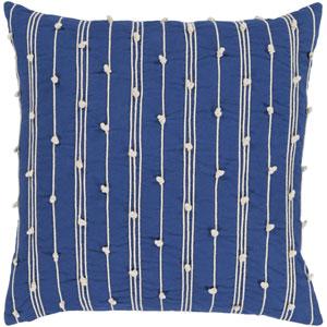 Accretion Bright Orange and Cream 22 x 22 In. Throw Pillow