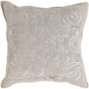 Adeline Gray 18-Inch Pillow Cover