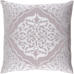 Adelia Gray 18-Inch Pillow with Down Fill