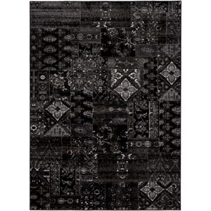 Amadeo Black and Brown Rectangular: 2 Ft.x 3 Ft. 7-Inch Rug