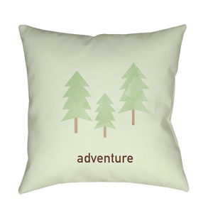 Adventure Green and Brown 20 x 20-Inch Throw Pillow