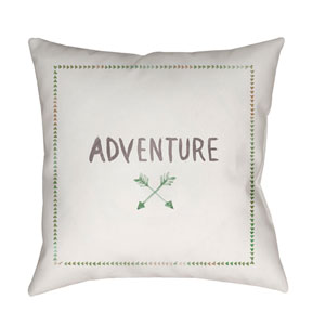 Adventure II Green and Purple 18 x 18-Inch Throw Pillow