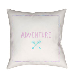 Adventure II Purple and Blue 18 x 18-Inch Throw Pillow