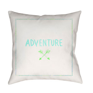 Adventure II Green and Blue 20 x 20-Inch Throw Pillow