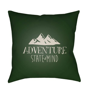 Adventure III Green and Beige 18 x 18-Inch Throw Pillow