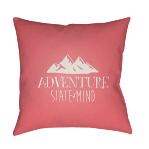 Adventure III Pink and Beige 20 x 20-Inch Throw Pillow