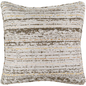 Arie Olive and Light Gray 20-Inch Pillow