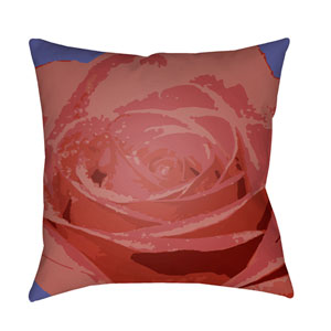 Abstract Floral Multicolor 18 x 18-Inch Pillow