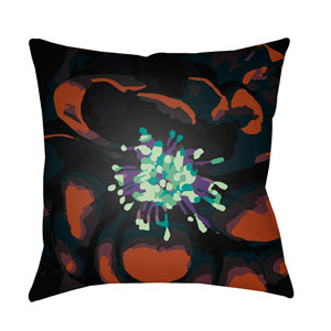 Abstract Floral Multicolor 20 x 20-Inch Pillow
