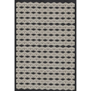 Agostina Black and Cream Rectangular: 2 Ft. x 3 Ft Rug
