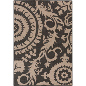 Alfresco Black and Taupe Rectangular: 5 Ft 3 In x 7 Ft 6 In Rug