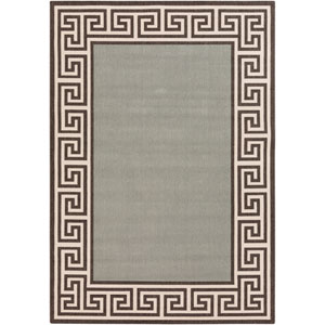 Alfresco Moss and Black Rectangular: 2 Ft 3 In x 4 Ft 6 In Rug
