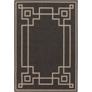 Alfresco Black and Taupe Rectangular: 2 Ft 3 In x 4 Ft 6 In Rug