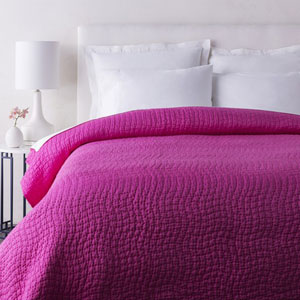 Albany Hot Pink Twin Quilt