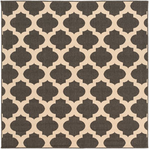 Alfresco Black and Beige Square: 7 Ft 3 In Rug