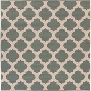 Alfresco Moss and Beige Square: 7 Ft 3 In Rug