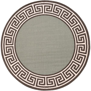 Alfresco Moss and Black Round: 7 Ft 3 In Rug