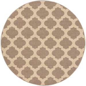 Alfresco Brown Round: 7 Ft. 3-Inch Rug