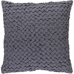 Ashlar Gray 22-Inch Pillow with Poly Fill