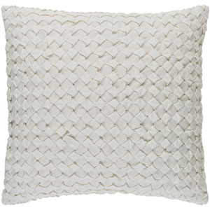 Ashlar Ivory 20-Inch Pillow with Poly Fill