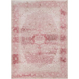 Amelie Blush and Rose Rectangular: 5 Ft. 3 In. x 7 Ft. 3 In. Rug